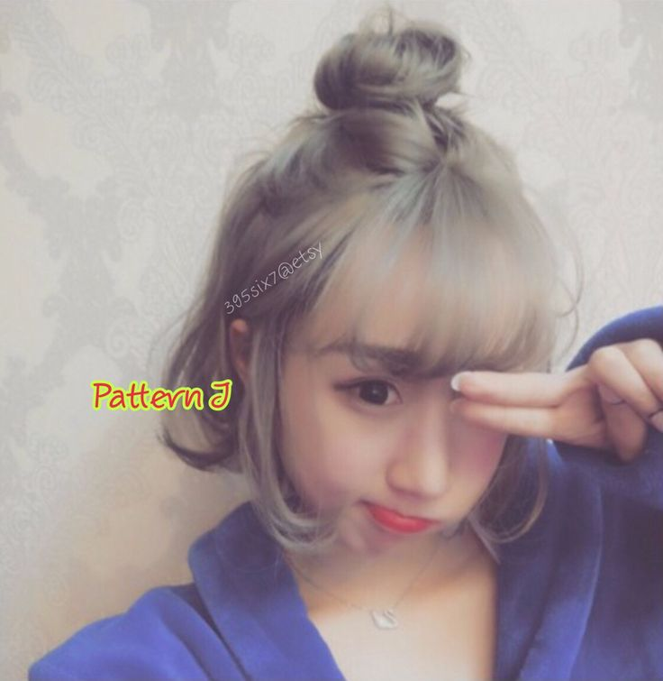 Sweetie Korean Top Knot Style Full Wig Party Look Half Knot Bun Causal Wear Kawaii Hair Adjustable Hairpiece Girlish Hairstyle Silver Grey by 395six7 on Etsy