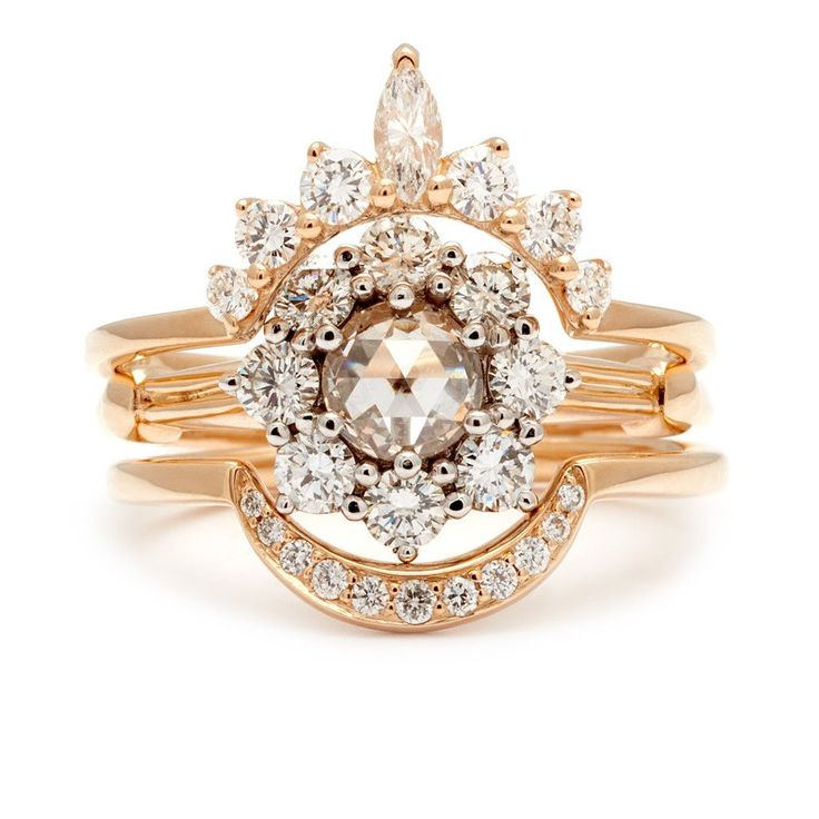 Celestine Yellow Gold Engagement Ring Unique Designer jewelry NYC – Anna Sheffield Jewelry
