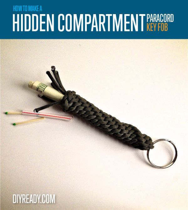 How to Make a Paracord Keychain with Secret Compartment | Instructions from #diyready www.diyready.com