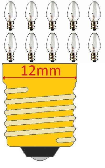 Candle Holders And Accessories 16102 10 Pack 15 Watt Bulbs For