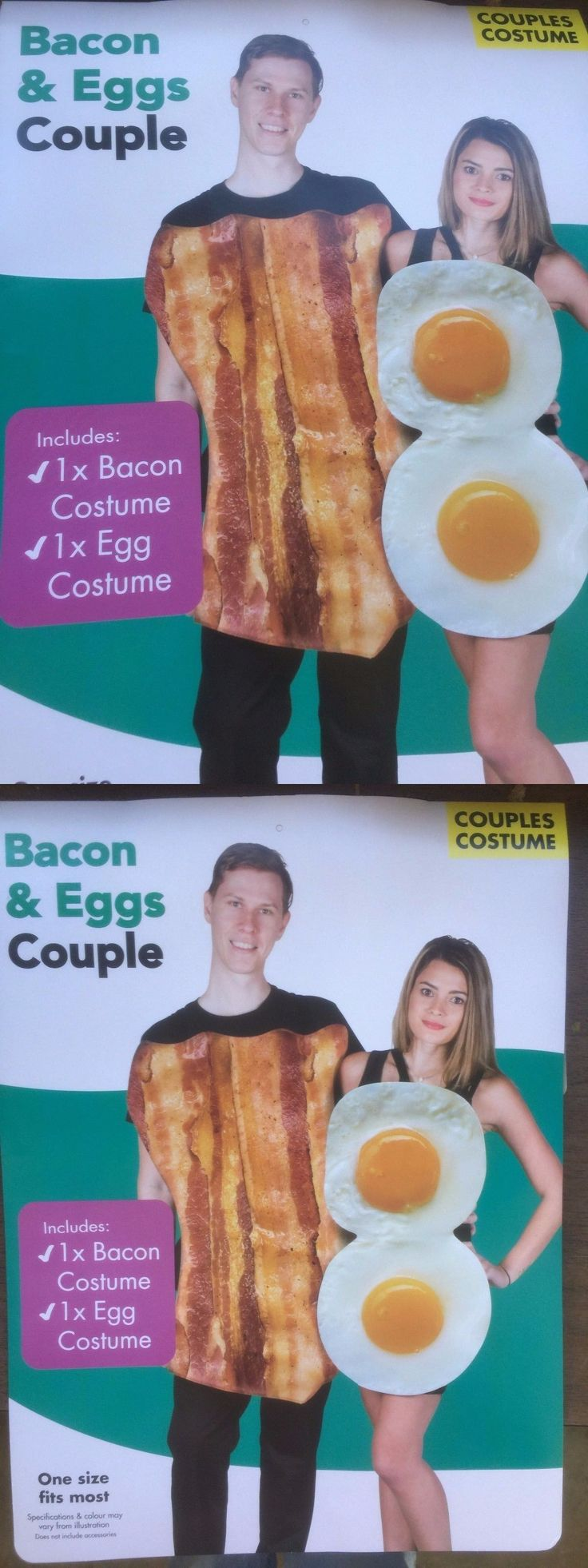Halloween Costumes Couples: Bacon And Eggs Costumes Adult Funny Couples Halloween Fancy Dress Osfm -> BUY IT NOW ONLY: $18.99 on eBay!