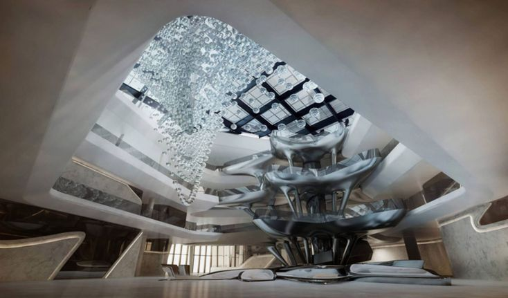 Me Hotel - Atrium and Vertical cafe by Zaha Hadid