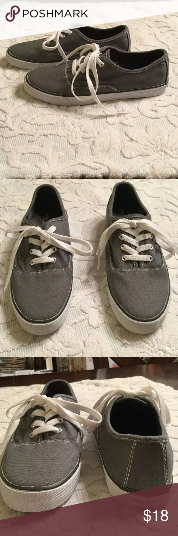 Gray flats American Eagle Brand new never worn . Size 8  AMERICAN EAGLE. Size is located on the inside of the tongue of the shoe. American Eagle Outfitters Shoes Flats & Loafers