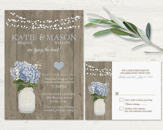 Cottage Mason Jar Wedding Invitation: Best 25+ Pink Hydrangea Wedding Ideas On Pinterest