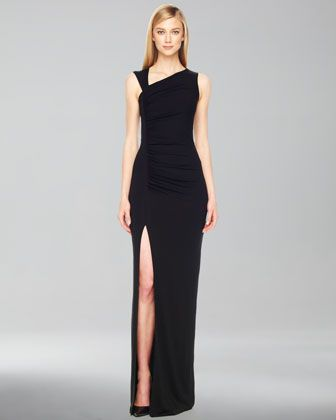 Second favorite designer...sorry, Valentio will ALWAYS come in first place in my heart! Gathered Asymmetric Jersey Gown by Michael Kors at Neiman Marcus.