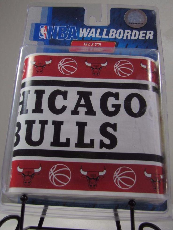 "Chicago Bulls Wallpaper Border Peel and Stick 15' X 5"" Official NBA NEW  #SportsCoverageInc #ChicagoBulls"