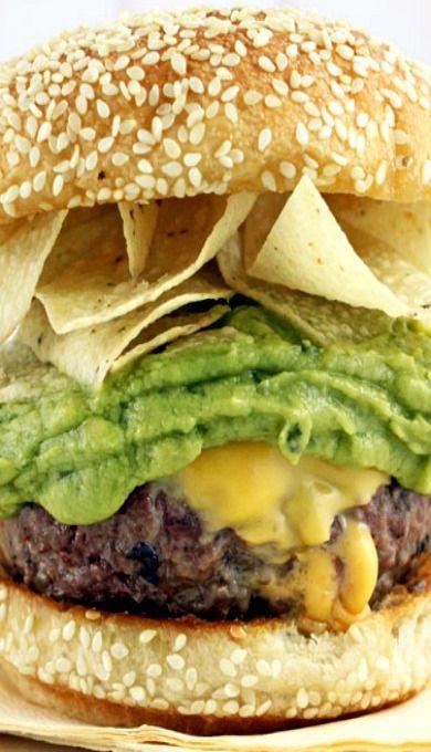 guacamole taco crunch burgers burger party taco burger ground beef ...