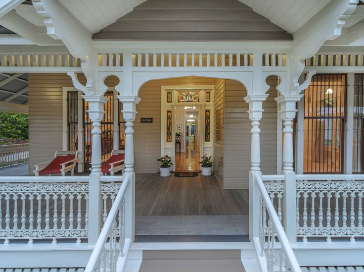 deep wide veranda always a favourite of a Queenslander style home #queenslanderhomes