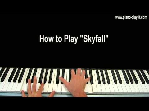 Skyfall Adele Piano Tutorial