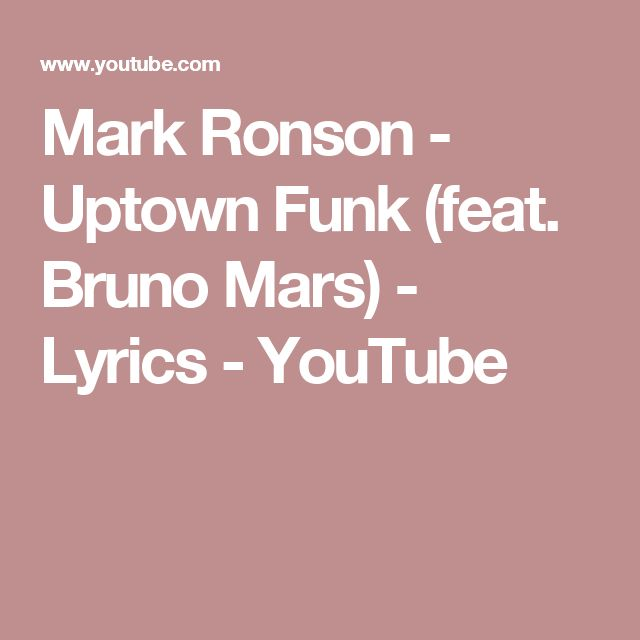 What is the meaning of 'uptown funk don't give it to you ...