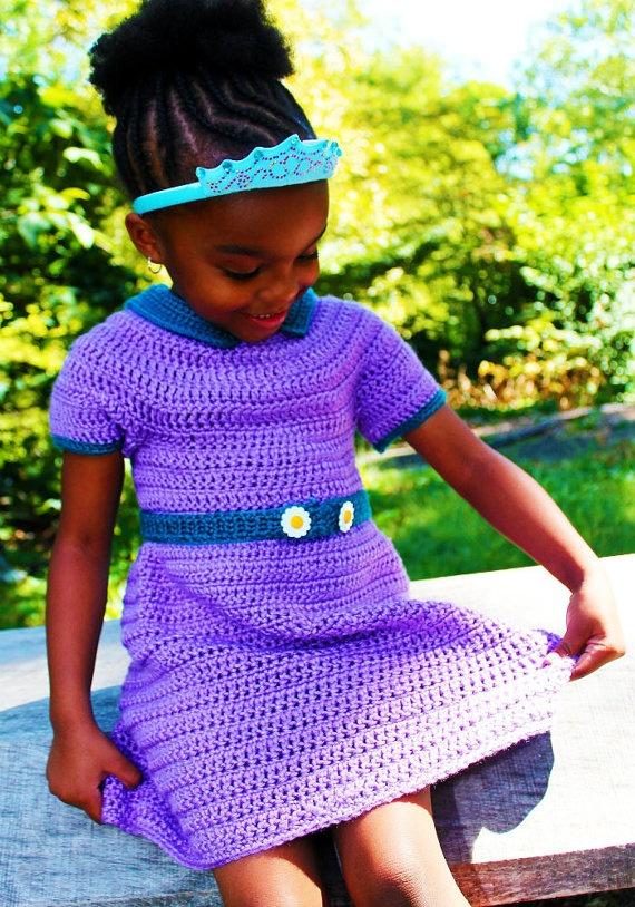 Dainty Darling Crocheted Toddler Dress Made by SweetPotatoPrincess, $110.00