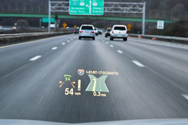 BMW head-up display (HUD)