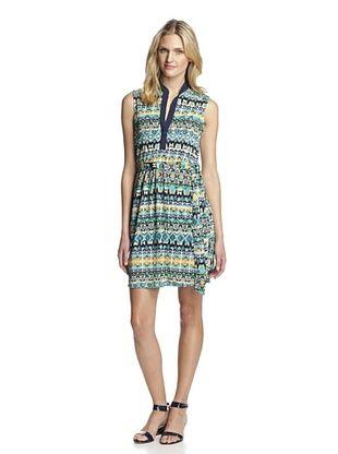 65% OFF Hutch Women's Printed Shirt Dress (Tribal Garden)