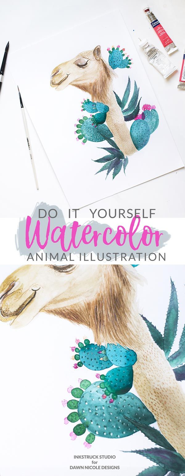 305 best diy art mirrors images on pinterest diy art diy create a beautiful diy watercolor animal illustration with the help of an example in this tutorial solutioingenieria Gallery