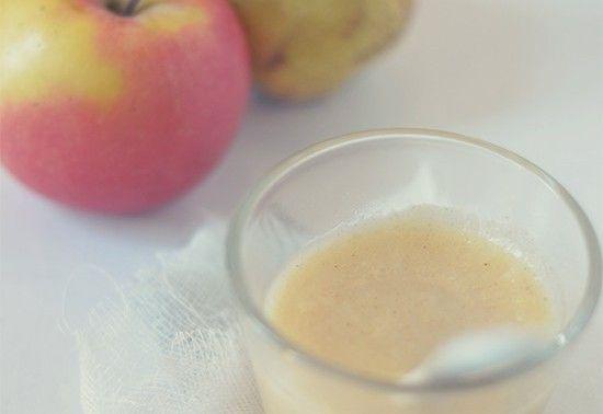 La prima merenda con pera, mela e cannella