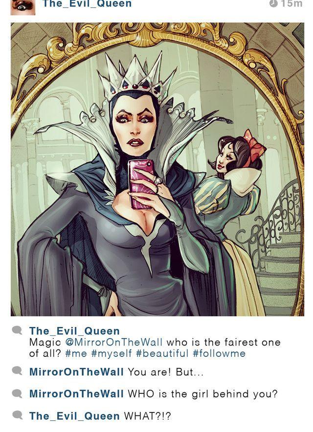 Si las princesas de Disney tuvieran Instagram