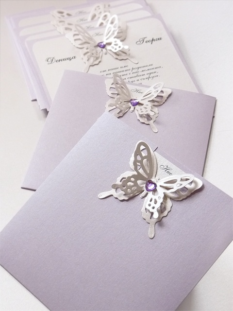 Butterfly Wedding Invitation ~ Pocket Wedding Invitation from www.violet-bg.com/ Also available at www.violet-weddinginvitations.com
