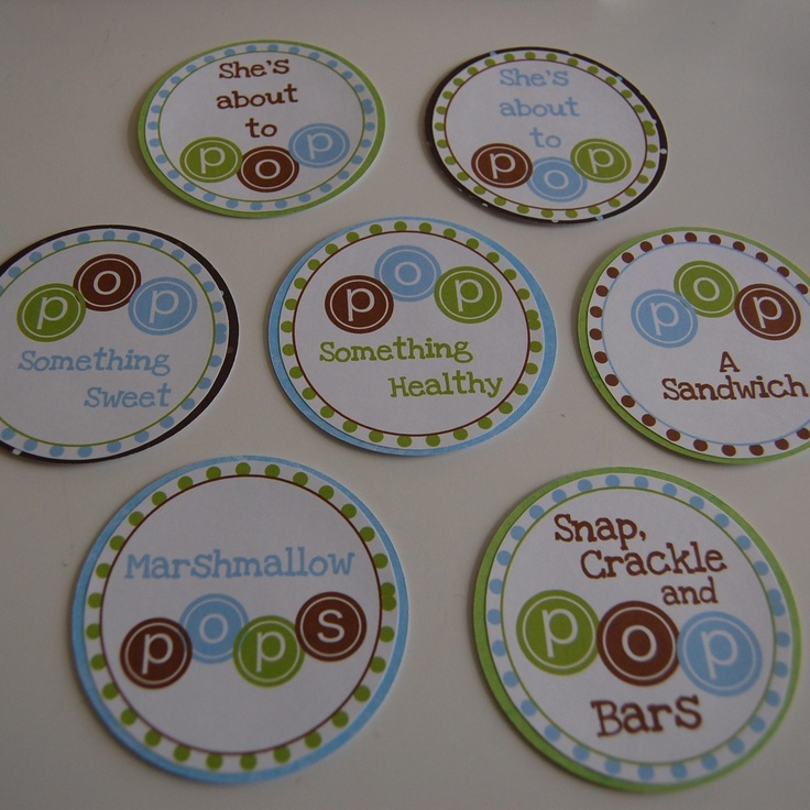 Sheu0027s About To Pop Baby Shower Tags, Food Labels. $5.00, Via Etsy.