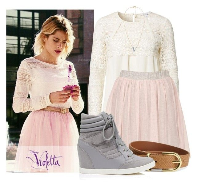 """Violetta #8"" by candygirllnm ❤ liked on Polyvore featuring Topshop, H&M, Forever New, MANGO, BERRICLE, disney, violetta and MartinaStoessel"