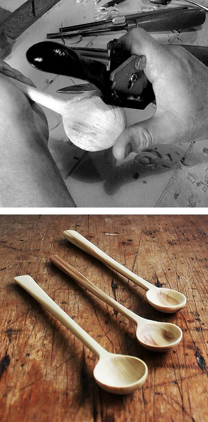 Peter Coulter of Reclectica is an ex dentist, ex signwriter, now furniture maker and spoon carver. Peter has long had a fascination for green woodworking, but it wasn't until a tree fell across his driveway that he took up spoon carving.