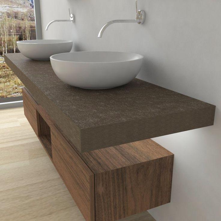 Oltre 25 fantastiche idee su mensole da bagno che ti - Mensola bagno appoggio lavabo ...