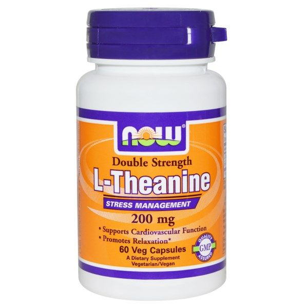 Now Foods, L-Theanine, Double Strength, 200 mg, 60 Veggie Capsules  #stress #formula #support #balance #management #iherb #thingstobuy #shopping #relief