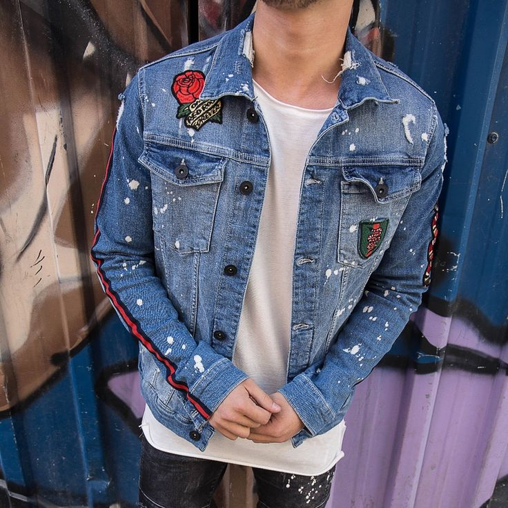 The product Patched Printed Denim Jacket Streetwear 3504 Streetwear Denim Jacket is sold by SNEAKERJEANS STREETWEAR SHOP & SNEAKERS SHOP in our Tictail store. Tictail lets you create a beautiful online store for free - tictail.com