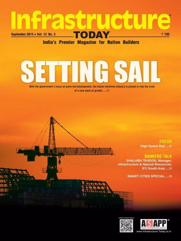 INFRASTRUCTURE TODAY September 2015 Issue- Setting Sail   High Speed Rail   Smart Cities Special!  #InfrastructureToday #Rail #SmartCities