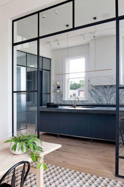 Design Ideen : Offene Küche Wohnzimmer Abtrennen, Kreative Raum Teiler,  Einfache Offene Küche Wohnzimmer Abtrennen Mit Glas.
