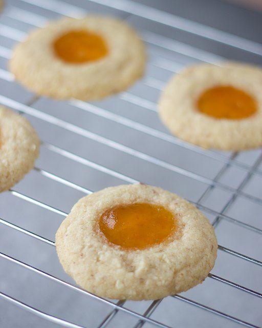 vegan gluten free almond thumbprint cookies (I used coconut sugar!)