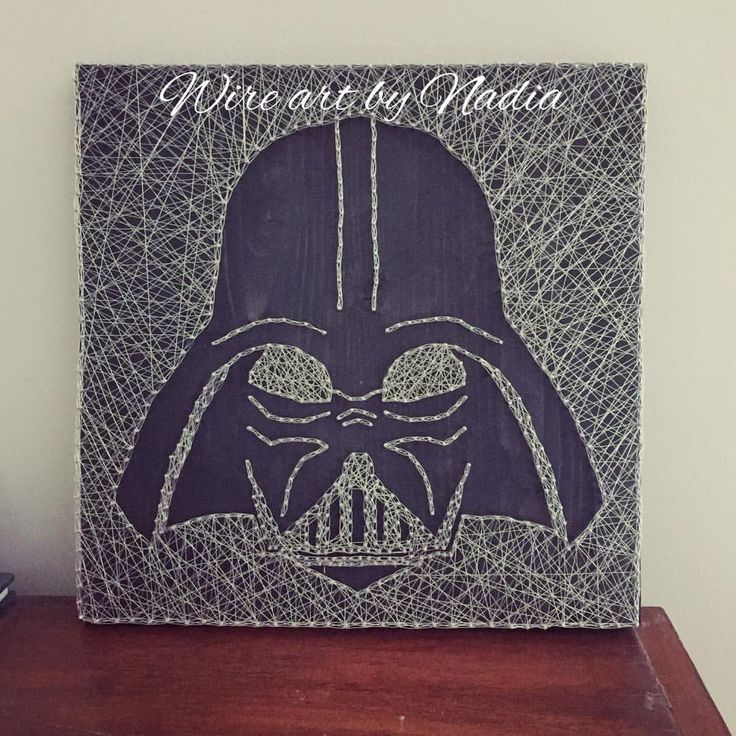 "0 Likes, 1 Comments - Nadia P. (@nadiap.artist) on Instagram: ""Darth Vader wire art. #comicon2017 #darthvader #wireartist #wireart #handmade #canadianmade #black…"""