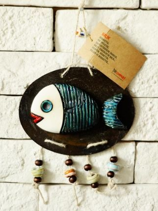 Oval Balık Duvar Süsü