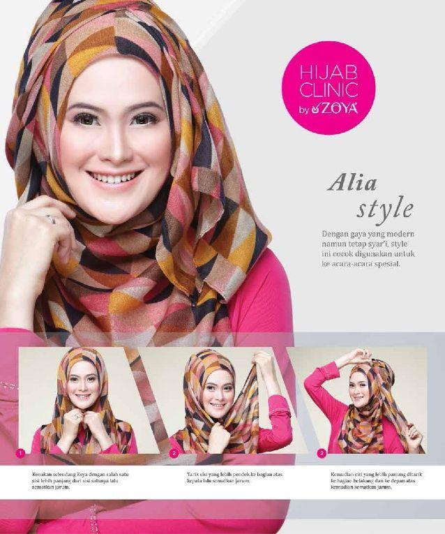Hijab tutorial zoya alia style uploaded by KerudungBandungDotCom