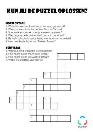 Ambrasoft - Kruiswoordpuzzel voor kinderen
