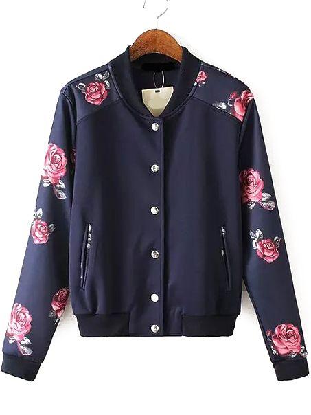 chaqueta cuello mao florales 18.88