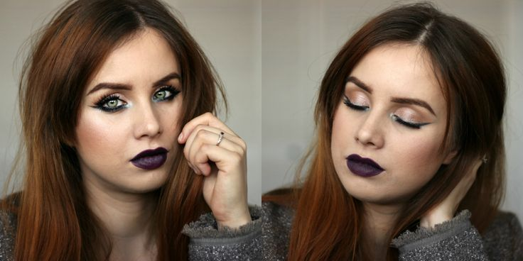 black vampy lipstick makeup