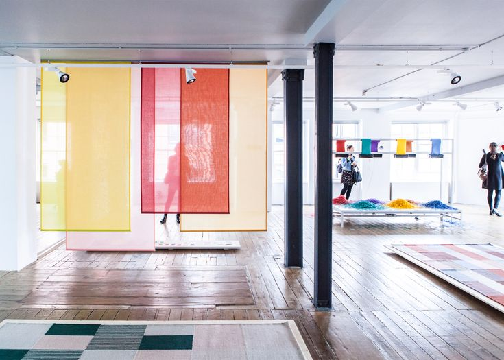 The exhibition Blend by Raw Color features a series of installations that cover textiles, photography and product design.