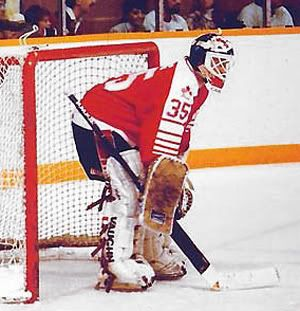 Andy Moog, the Canadian National Team goalie in 1987-88. Competed in '88 Calgary Winter Olympics