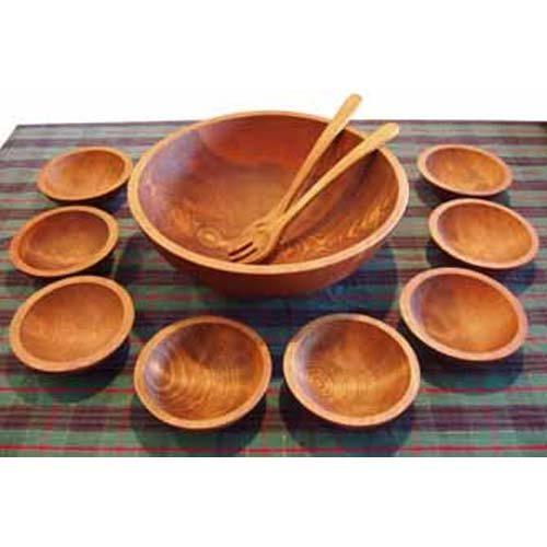 holland bowl mill dark walnut ninebowl wooden salad bowl set - Wooden Salad Bowls