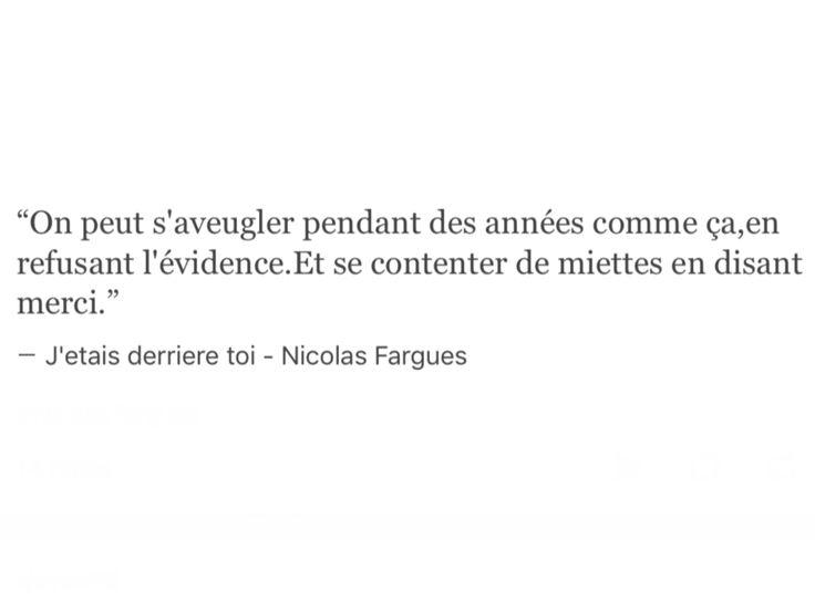 """Nicolas Fargues """"J'étais derrière toi"""""""