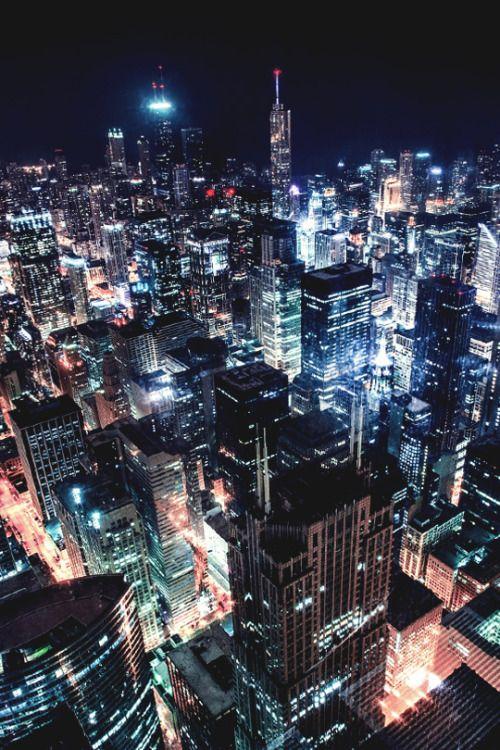 Chicago Cityscape at Night via Toney's Photo Journey