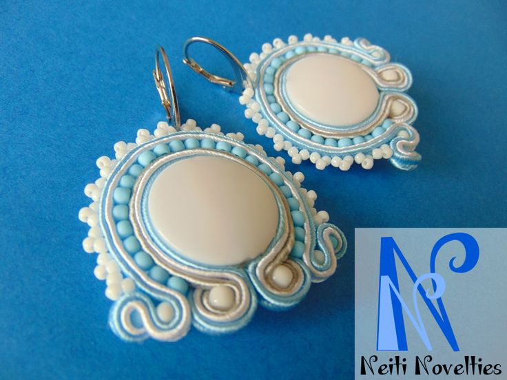 Frosted soutache earrings