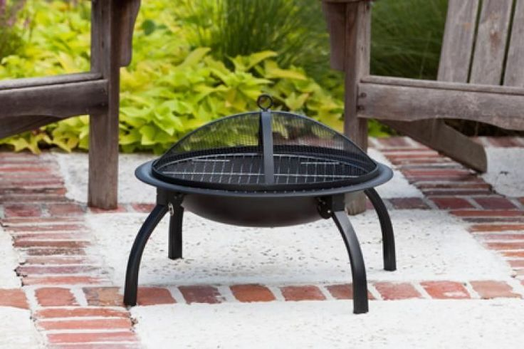 22 in Folding Portable Fire Pit Backyard Camping Patio Wood Burner Co