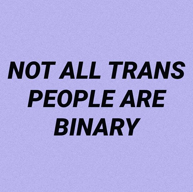 YES. It's so hard explaining that I'm trans but I'm not a boy, I'm non binary..