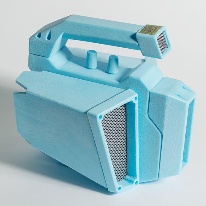 DP1 Blue Foam Radios | Design School | Loughborough University