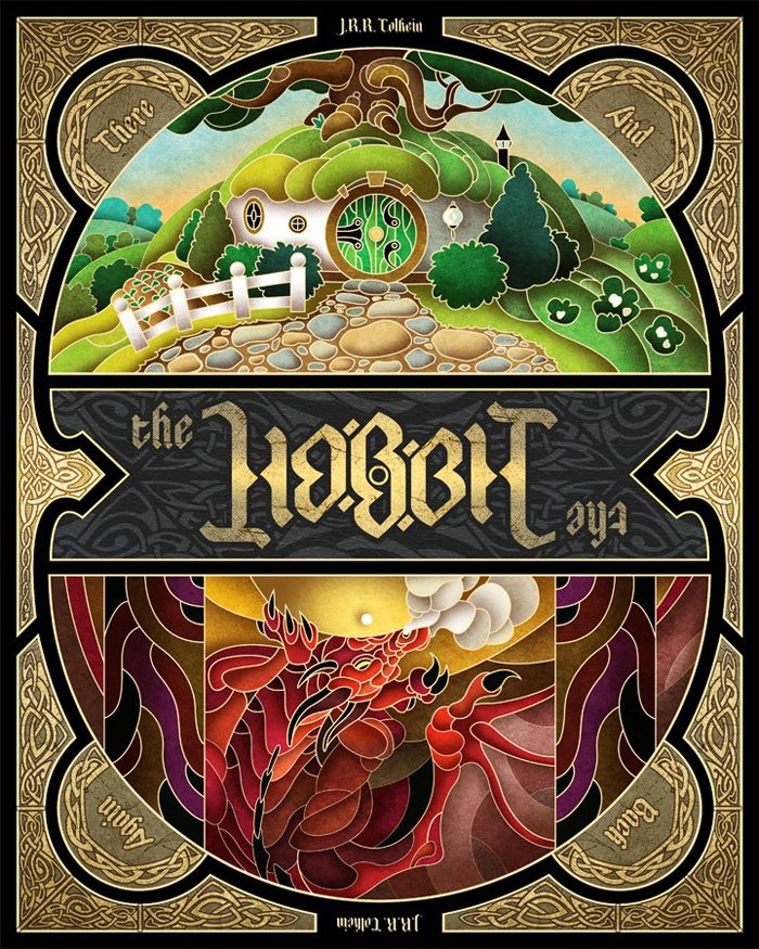 "Middle-earth:  Alternative movie poster for ""The Hobbit: An Unexpected Journey,"" by Wes Talbott."