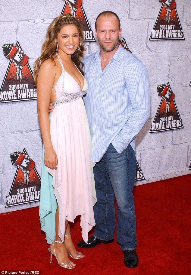 2008 Not happy: Kelly Brook reveals she hit Jason Statham after she overheard him talking to Gw...