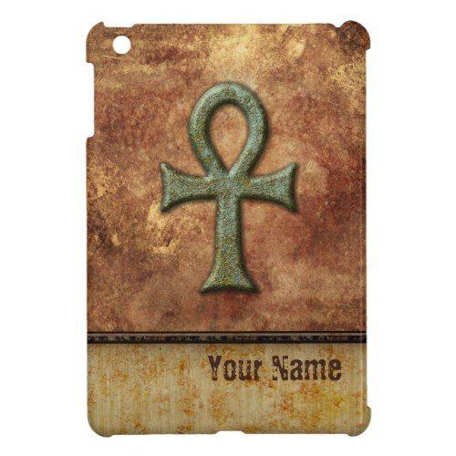 Ankh Symbol Grunge Rust Personalized iPad Mini Cases
