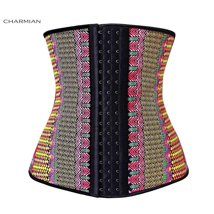 Charmian Women's Plus Size Underbust Corset Steel Bones Latex Hourglass Waist Trainer Corset Body Shapewear