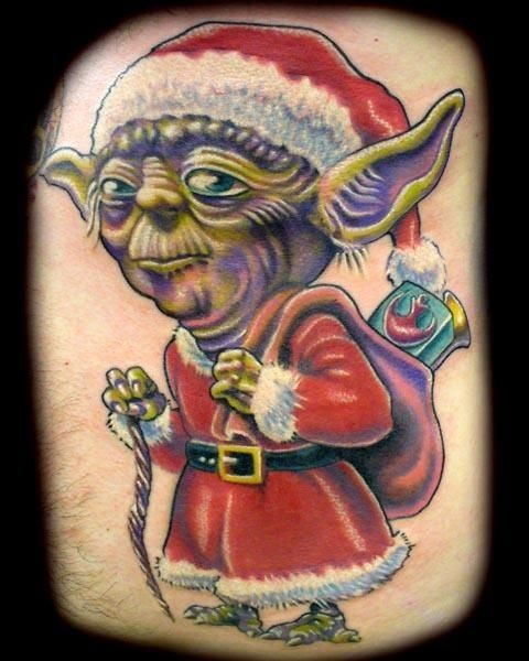 CHeck out these crazy and kooky Christmas tattoos!